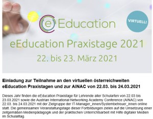 Read more about the article eEducation Praxistage 2021