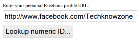 how to check numeric i.d of facebook page