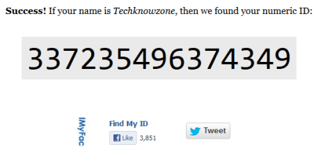 facebook numeric id for tagging