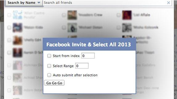 Facebook: How to invite all Friends to like your Facebook Page or Event in One Step - TechKnowZone.com
