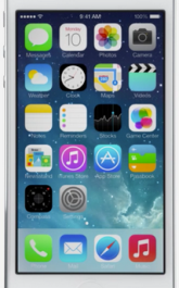 New Icons home screen in Apple iOS 7