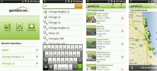 Top Android Apps to search for Rental apartments and houses apartments