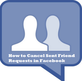 How to cancel sent friend request in facebook