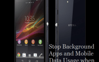 How to stop data useage and background apps in xperia z when screen is off