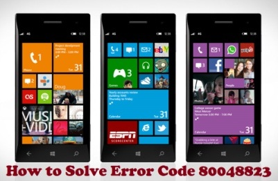 solution for windows phone error 80048823