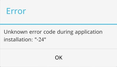 How to solve or fix error code -24 in google play store