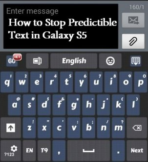 How to stop predictible text in galaxy S5