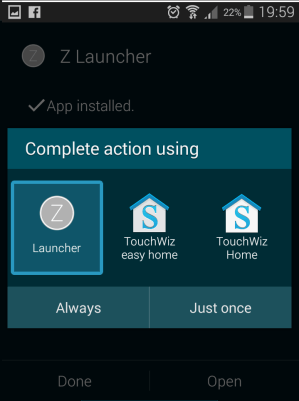 Steps to install z Launcher by nokia