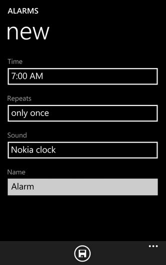 how to set song as alarm tone in nokia lumia windows device