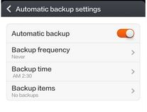 How to set automatic backup in xiaomi mi3