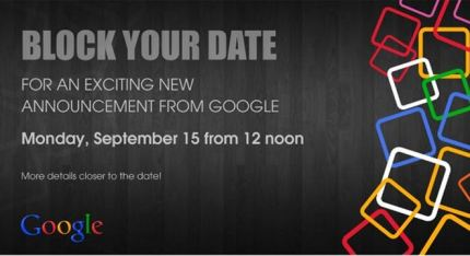 Google Press Invitation for Android One launch on September 15th