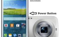 How to capture or take screenshot in Galaxy K zoom