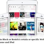 How to restrict or block certain webiste in iphone or ipad safari browser