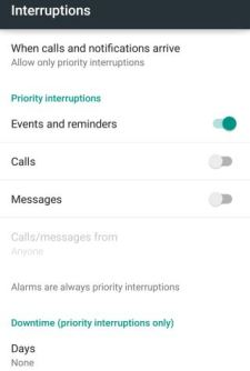 How to activate and use Do Not Disturb or Interruptions feature in Android Lollipop