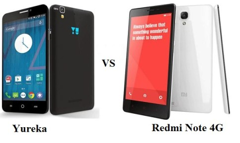 Comparison and Differences between Micromax Yu Yureka vs Xiaomi Redmi Note 4G