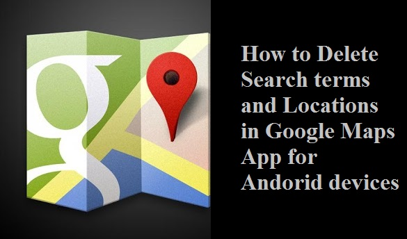 Clear Google Maps Search on