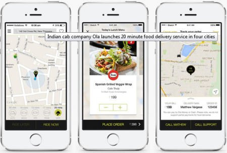 ola cafe service in india