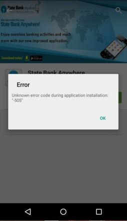 How to solve or fix error 505 while application install after lollipop update