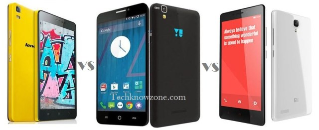 Comparison between Lenovo K3 Note vs Xiaomi Redmi Note 4G vs Yu Yureka