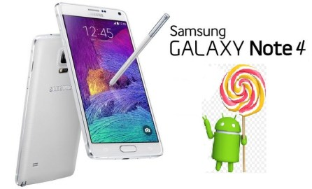 Android Lollipop 5.1.1 update for Note 4
