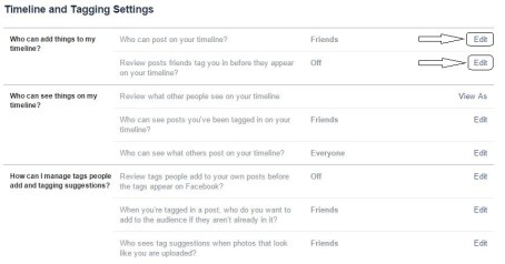 How to prevent or block users from posting on your wall or tagging you in Facebook2