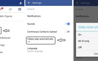 How to disable auto play option for videos in Facebook App