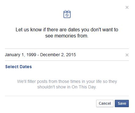 Stop On this day in facebook
