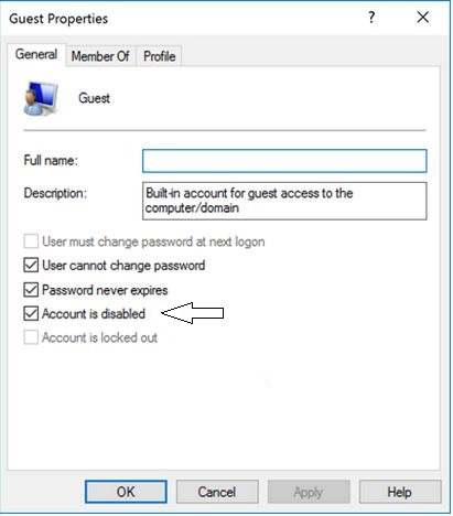 How to activate Guest user account in Windows 10 Laptop or PC