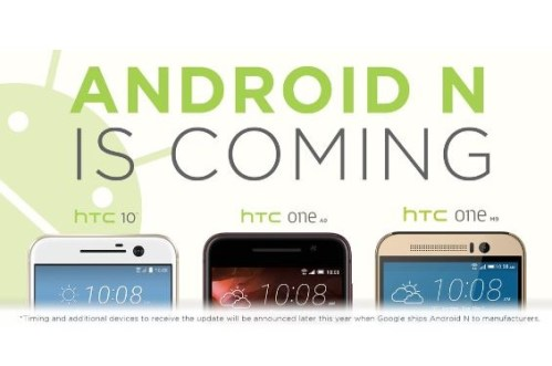 Timeline for HTC devices to get Android 7 Nougat update