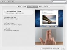 How to change scrollpad direction in apple Laptop trackpad