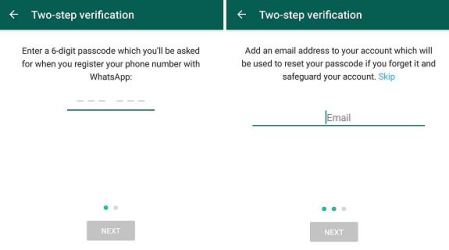 How to enable 2 step verification feature on WhatsApp