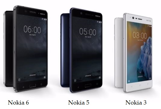 Nokia 6, Nokia 5 and Nokia 3 specifications, pricing and availability