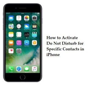 How to activate Do Not Disturb for specific Contact in iPhone and iPad