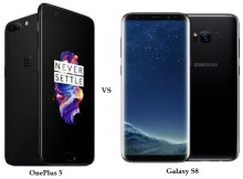 OnePlus 5 vs Galaxy S8 Comparison and Differences