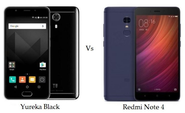 YU Yureka Black vs Redmi Note 4 comparison