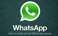how to create private WhatsApp group to store personal photos videos documents