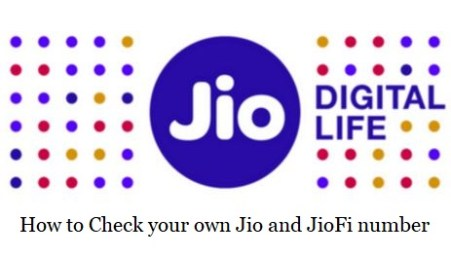 How to check your own Jio and JioFi number