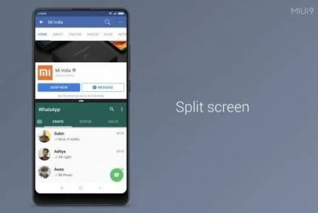 How to enable or use Split screen mode in MIUI 9