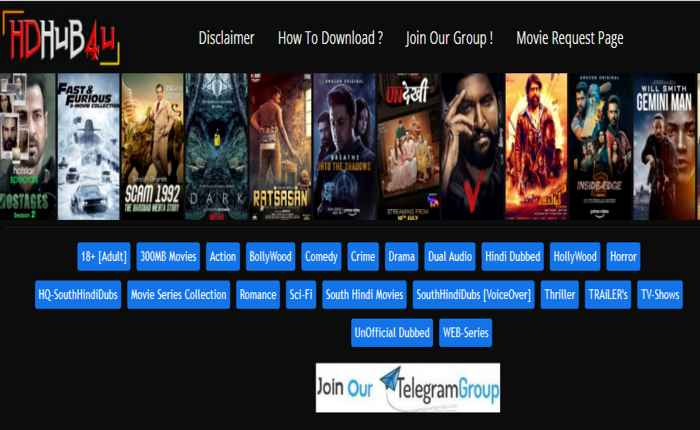 HDhub4u 2021 – Download every kind of movie and web series
