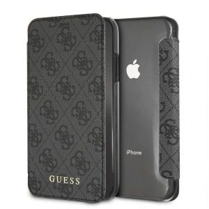 IPhone XR GUESS CHARMS COLLECTION Booktype Case 4G - Grey