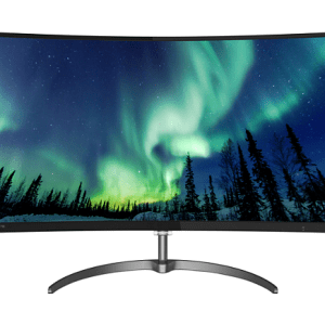 מסך מחשב קעור PHILIPS 278E8QJAB HDMI DP SPK CURVED 27