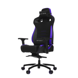Vertagear Racing Series P-Line PL4500 Gaming Chair Coffee Fiber With Silver Embroirdery Black/Purple Edition