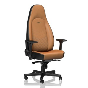 Noblechairs ICON Real Leather Gaming Chair Cognac/Black עור אמיתי