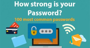 Top 100 most common passwords