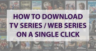 How to download TV Series/Web Series on single click