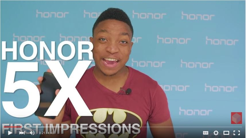 Huawei Honor 5X First Impressions Video