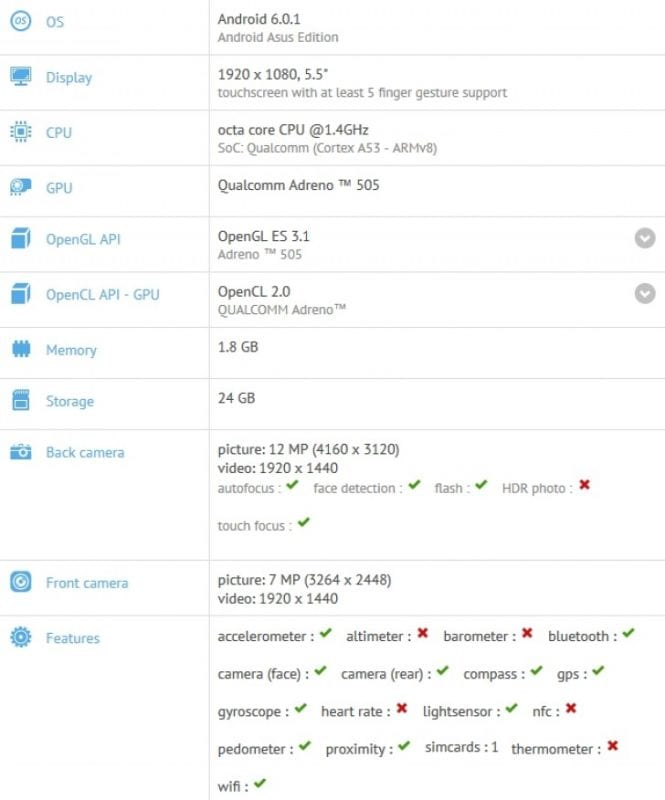 Asus Z10B GFXBench listing