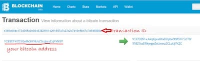 how to Fund Swisscoin Account with Bitcoin - Blockchain transaction