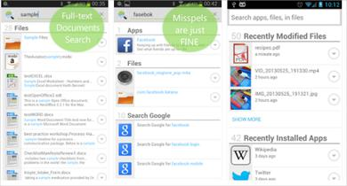 The Andro Search app for Android