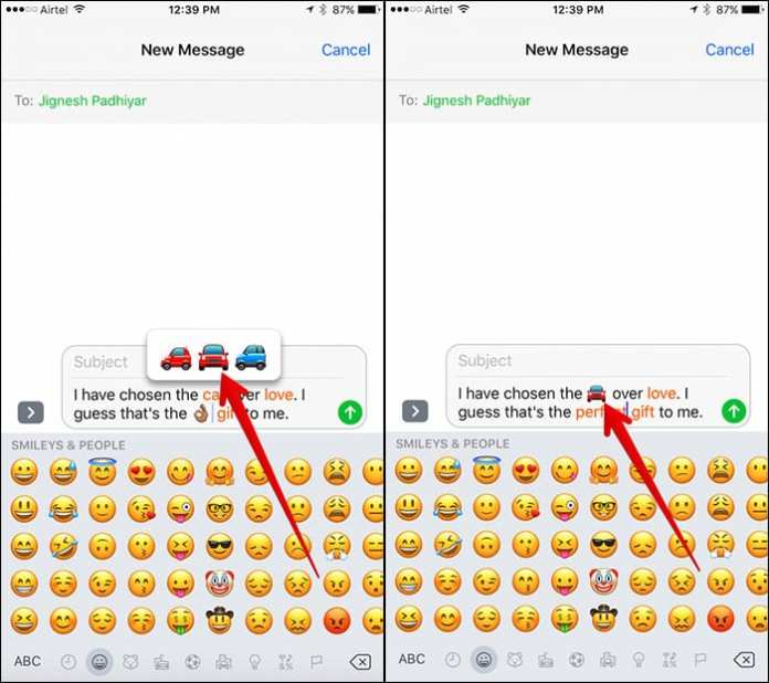 Change Text to Emoji in iMessages App on iPhone